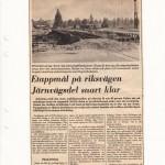 Etappmål på riksvägen Järnvägsdelen snart klar DD 1972