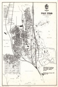 Falu Stad 1886 - Förslag på sträckning