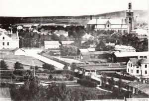 Falun Magasinsgatan omkring 1900_a