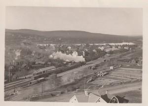 Falun Norra station i början på 1940-talet