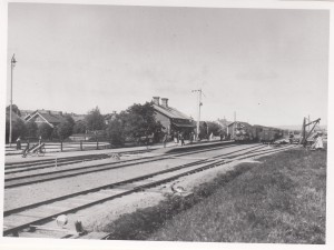 Falun Norra station omkring 1910