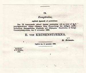 Kungörelse ang öppnande 1889