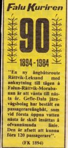 Ångbåtsrout FK 1984