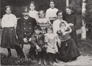 Gopen Jusk Erik Eriksson med familj
