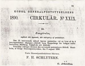 Kungörelse 1890