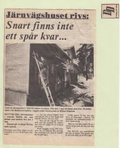 Rättvik Järnvägshuset DD 1981
