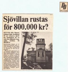 Rättvik Sjövillan DD 810928