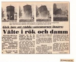 Rättvik Vattentorn FK 830608