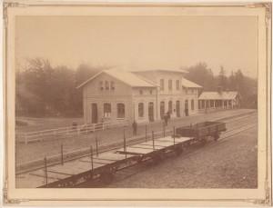 Rättvik station någon tid efter invigningen 1890