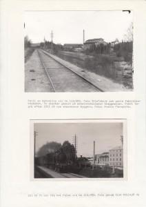 Sågmyra banvall samt tåg mot Falun