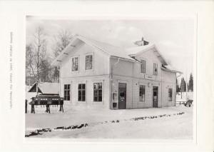 Sågmyra station ca 1950 Vykort
