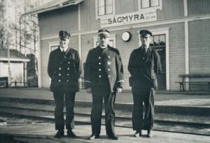 Sågmyra station omkring 1965