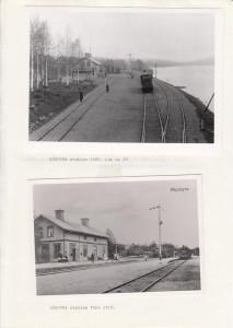 Sågmyra stn 1903 Lok 29 och Sågmyra stn före 1910