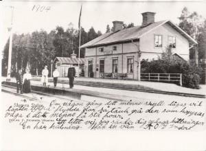 Sågmyra stn Vykort 1904