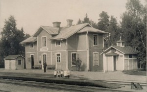Slättberg station före 1918